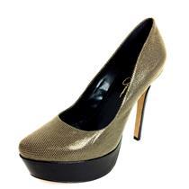 9 Jessica Simpson Biege/Black Mirco Polka Dot Pointed Toe Platform Stiletto Pump