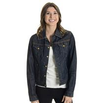 M Lucky Brand Dark Wash Denim Jacket w/Contrast Stitching 100% Cotton F82I040