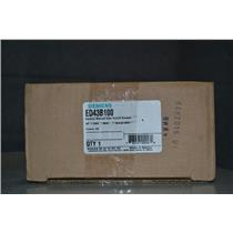 Siemens 3P, 100A, 480V, 18kA @ 480V Sentron Molded Case Circuit Breaker ED43B100