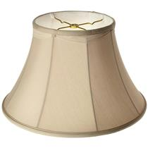 Royal Designs Draped Shallow Bell Lampshade - Eggshell/Ivory 8.5x16 x10.5