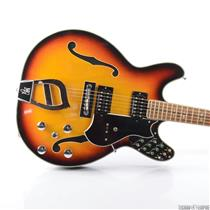 Univox M340 Guitorgan Semi Hollowbody Electric Guitar w/ Expression Pedal #28271