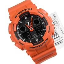 Casio Watch GA100L -4ACR,GA-100L Original G-Shock New in Box w/Warr./Instruction