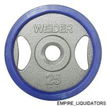Unused - Individual Weider 25 lb. Olympic Handle Plate with Ring