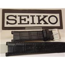 Seiko Watch Band Unknown Model 24mm wide 13mm notched.Leather Band # LOCX B 13