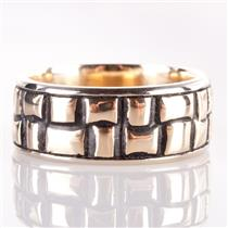 Men's 14k Yellow & White Gold Nugget Style Band / Ring 14.1g