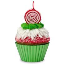 Hallmark Series Ornament 2016 Christmas Cupcakes #7 - Peppermint Swirl - #QX9114