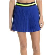 NWT 42/10 Lacoste Blue SPORT Tennis Ultra-Dry Technical Jersey Pleated Skirt