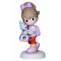 Precious Moments Figurine 2014 Dora the Explorer - With Boots the Monkey #141030
