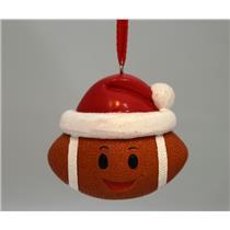 Hallmark Direct Imports Ornament 2016 Football - Santa Hat & Smiley Face HGO1167