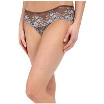 NEW Sz M Free People Wild Roses Embroidered Mesh Undies in Mocha/Blue Mist Combo