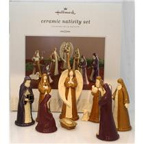 Hallmark Exclusive Ceramic Nativity Set - Set of 8 Figurines - #XKT2178