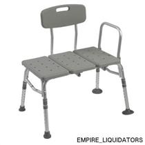 New Gray Drive Medical Transfer Tub Benches w/ Backrest 12011KD-1 (Original Box)