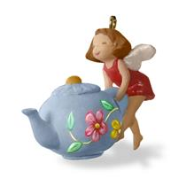 Hallmark Miniature Ornament 2016 A Spot of Tea - Fairy & Teapot - #QXM8574