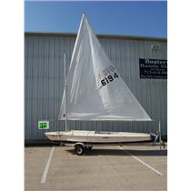 Boaters' Resale Shop of TX 1706 06FRPS 69 GLASTRON ALPHA 159 SAILBOAT & TRAILER