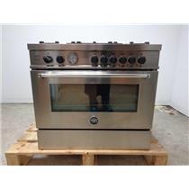 "BERTAZZONI MAS365GASXT01 Master Series 36"" Stainless Steel Gas Range SS"