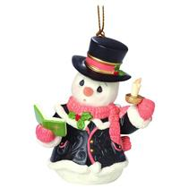 Precious Moments Ornament 2016 Snowman Series #7 - O Come All Ye Faithful 161033