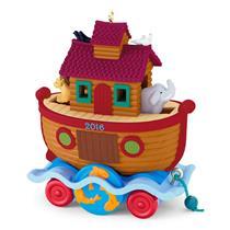 Hallmark Series Ornament 2016 Santa Certified #4 - Noah's Ark - #QX9081