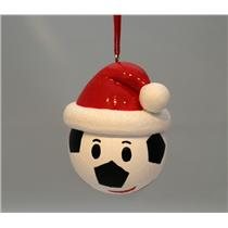 Hallmark Direct Import Ornament 2016 Soccer Ball Santa Hat & Smiley Face HGO1164