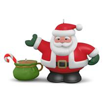 Hallmark Series Ornament 2016 Tea Time #1 - Santa Teapot - Porcelain - #QX9194