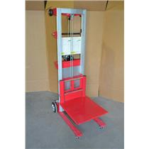 "Dayton Manual Lift Manual Push Stacker 400 lb.Cap Lifting Height Max 120"" 11N196"
