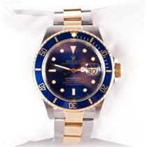 Rolex 18k Yellow Gold & Stainless Steel 1991 Submariner Two-Tone Wrist Watch