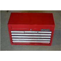 "Westward 32H869 Red Standard Duty Top Chest, 17""H X 26""W X 12-1/16""D, 7 Drawers"