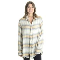 NWT Sz M Stillwater The Shirt  Long Sleeve Button Down Collared Top in Daybreak