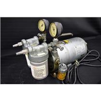 Emerson Electric Motor SA55NXGTB-4142 ¼ HP 1725 RPM Vacuum Pump w/ Gauges