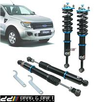 DD 40 Step Coilover Shock Damper Suspension For FORD Ranger T6 PX XL XLT 4WD 12+