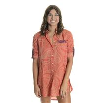 S HIHO Voile Printed Barbara Beach Shirt Dress Cover Up Tunic Sunset Paisley