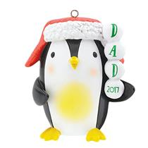 Carlton Heirloom Ornament 2017 Dad - Penguin with Hat - #CXOR014M