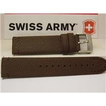 Swiss Army Watch Band Air Boss Mach 1 & 2.Leather Dark Brown 21mm Wide 4mm Thick