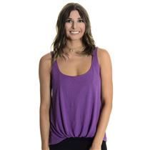 XS Elizabeth and James Sleeveless Jersey Kim Tank Top Gathered Front Hem Purple
