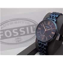 Fossil ES4094 Women's Watch.Jacqueline. Blue Steel. Rose Gold Numerals.36mm Case