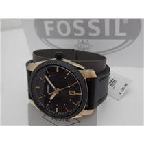 Fossil FS5263 Mens Machine Series Watch. Gold Tone. Black Strap,Dial and Bezel