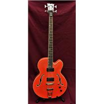 Dean Stylist, Semi Hollow, Archtop, 4 String Bass Guitar, Gretsch Orange