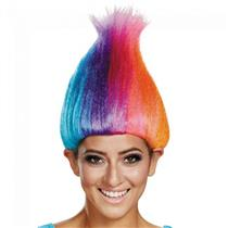 Disguise Rainbow Multi Colored Licensed Adult Costume Troll Wig
