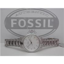 Fossil ES4183 Women's Watch.Neely.Round Steel. Silver Tone Case and Bracelet