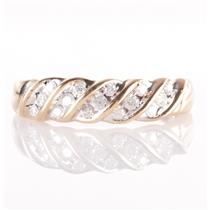 10k Yellow Gold Round Cut Diamond Fashion Band / Ring .23ctw