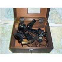 Boaters Resale Shop of TX 1706 2055.01 METAL SEXTANT NO. 74674 IN WOODEN BOX