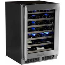 "Marvel Professional Series MP24WSG4RS 24"" 48-Bottle Cap Built-in Wine Storage"