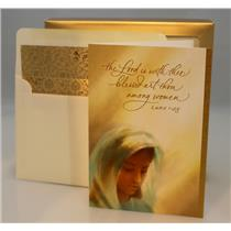 Hallmark Boxed Cards The Lord is with Thee Blessed Art - 18 Cards - #PX3779