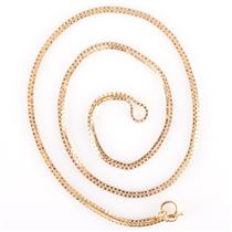"Unisex 14k Yellow Gold Italian Box Chain Necklace 31"" Length 6.4g"