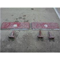 """Boaters' Resale Shop of TX 1706 2277.41 TRIM TABS 13x41"""" & 3 HYDRAULIC ACTUATORS"""
