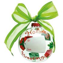 "Lolita ""Holiday Greetings"" Customizable Glass Ball Ornament - #ORN10-5521A"