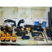 Boaters' Resale Shop of TX 1707 0452.05 RYOBI 18 VOLT BATTERY POWERED TOOL SET