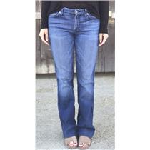 Sz 27 Authentic 7 For All Mankind Kimmie Midrise Bootcut Stretch Denim Jeans