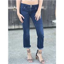 Sz 26 Hudson Jeans Signature Bootcut Crop Jeans South Haul w/Back Flap Pockets