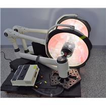 "Steris SQ240 Dual Head Exam Surgical Lights 24"" Head Mounting Plate Control Box"