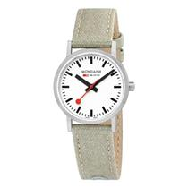 Mondaine Watch A658.30323.16SBG.Lady Classic.Swiss Movement,Canvas Leather Strap